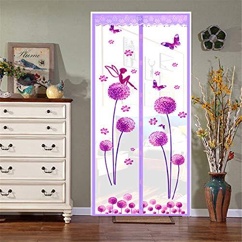 YUNSW Gedruckte Tür Gegen Mückenschutz, Sommerlicher Türvorhang Gegen Mücken, Verschlüsselte Tür Mit Magnetischem Bildschirm