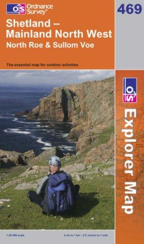 OS Explorer map 469 : Shetland - Mainland North West