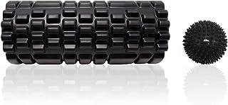 Kalinco 2020最新版 フォームローラー ヨガポール マッサージボールつき 筋膜リリース トリガーポイント ストレッチ器具 グリッド ストレッチローラー トレーニング スポーツ フィットネス ダイエット 収納袋付き