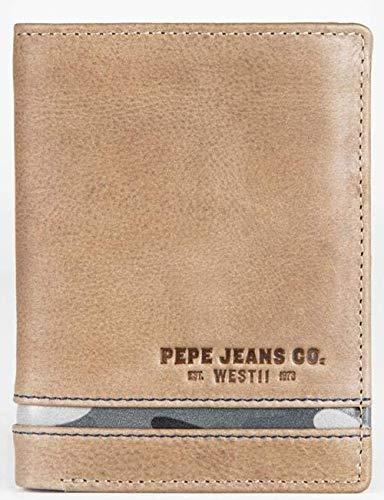 Cartera Pepe Jeans Delta vertical con monedero Marrón