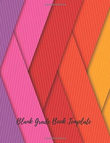 Blank Grade Book Template Record Notebook Pad For Teachers With Attendance Sheets Grading Sheets And More