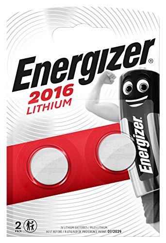 Energizer Piles bouton CR2016, Lithium 3V - Les 2 piles