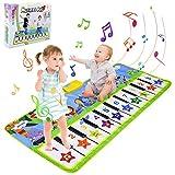 BelleStyle Alfombra para Música, 135*59cm Alfombra para Piano, Estera de Baile, Juguete Musical Bebé Actividad Alfombrilla de Suelo Animal Teclado Táctil Tapete Juego para Niños