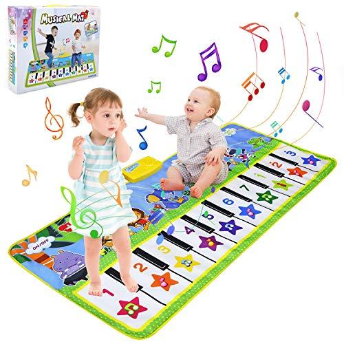 BelleStyle Alfombra para Música, 135*59cm Alfombra para Piano, Estera de Baile, Juguete...