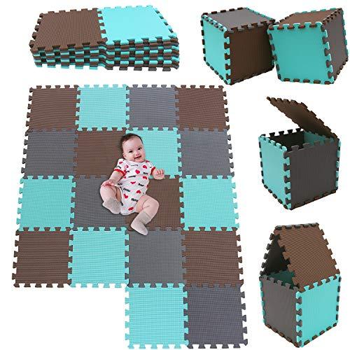 MSHEN18 Piezas Alfombra Puzzle Bebe con Certificado CE y certificación EVA | Puzzle Suelo Bebe...