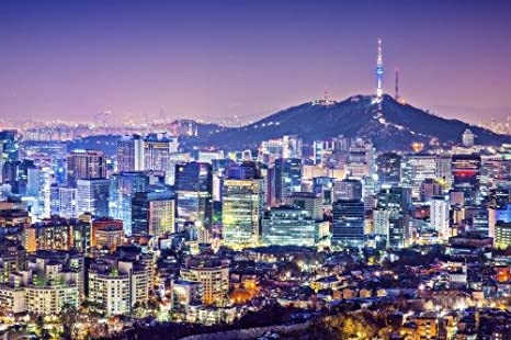 SEOUL SOUTH KOREA SKYLINE GLOSSY POSTER PICTURE PHOTO PRINT night view 3762