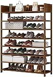 Organizador de zapatos Almacenamiento de zapato de 8 niveles Zapato de zapatos Organizador de almacenamiento de zapatos ajustable de madera Estante de zapato Torre de zapato para closet Surviving Room
