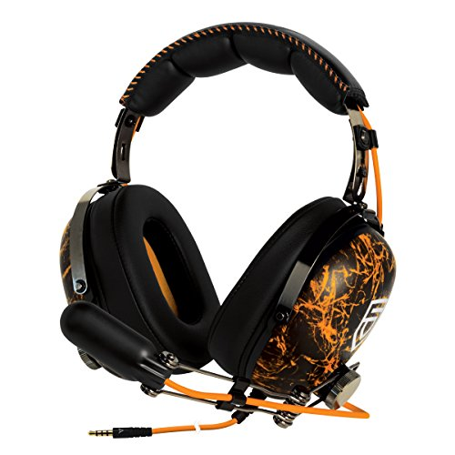 ARCTIC P533 Penta – Cuffie Da Gioco Oltre l'Orecchio | Gaming Headset Over-Ear | Microfono a Braccio Con Controllo Volume | Jack da 3,5mm | Arancione