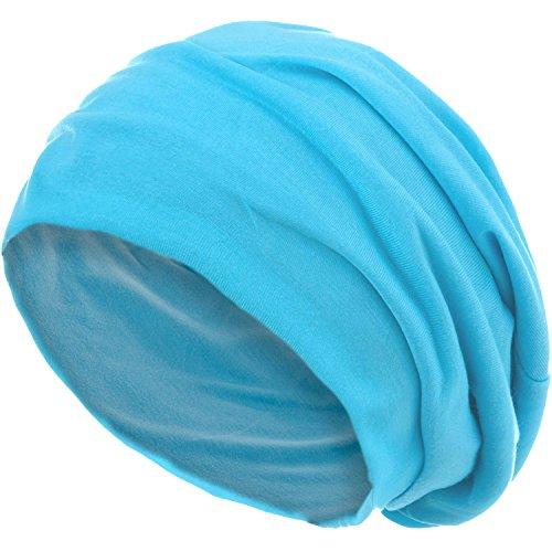 style3 Gorro Slouch Beanie de Fino Tejido de Punto Transpirable y Ligero, Gorro Unisex One Size, Color:Azul Claro
