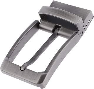 HOMYL Mens Metal Reversible Belt Buckle Replacement Antique Pin Buckle Rectangular