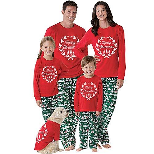 FRAUIT Kerstmis pyjama nachtkleding familie kerstmis nachthemd pyjama volwassenen kerstpyjama set voor kinderen, jongens, meisjes, heren, dames