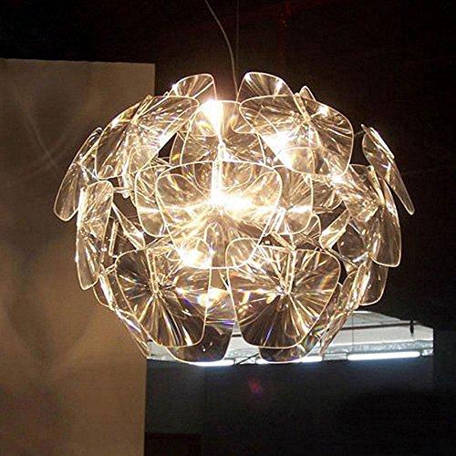 Moderne Ronde Luxe Luminaire Pendentif Blanc Élégant Fer Très Réglable Lampe Pendentif Verre Transparent Abat-Jour Salon Chambre Manger Bar 1-Lumière Éclairage De Plafond Max 60W E27 ø60cm