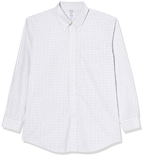 Brooks Brothers Camicia Milano Taschino Manica Lunga Chemise Business, Bleu (Blue 400), Medium (Taille Fabricant: 15H 34) Homme