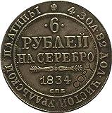 Chaenyu 1834 Monedas de Platino de Rusia Copiar la colección de Monedas conmemorativas