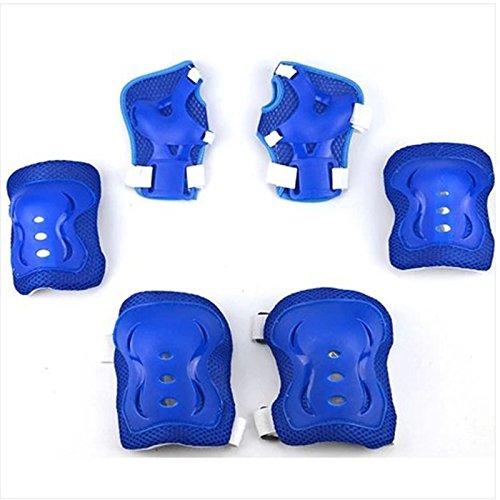 Baby Kinder Fahrrad Skateboard Schutzausrüstung Rollschuh Knie Handgelenk 6pcs/Set (blau)