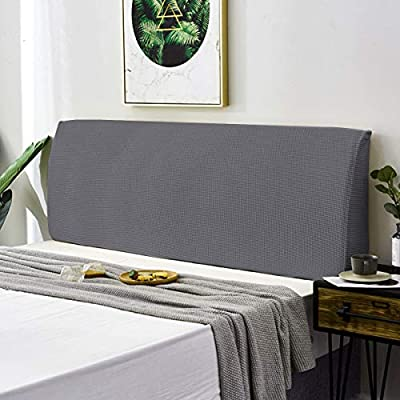 Material de alta calidad: la funda para cabecero de cama Toppown está hecha de 95% poliéster y 5% elastano, para garantizar una cobertura más suave y elástica. Esta tela de alta calidad es natural y respetuosa con el medio ambiente. No se decolora, a...