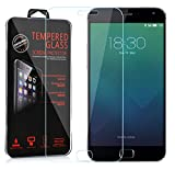 Cadorabo Tempered Glass Works with MEIZU MX 4 PRO in HIGH Transparency - Screen Protection 3D Touch Compatible with 9H Hardness - Bulletproof Display Saver
