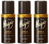 Magno Desodorante 'Spray Gold' Fragancia Irresistible - Pack de 3 x 150 ml (Total: 450 ml)