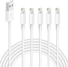 iPhone Charger,5 Pack (6 FT) MBYY [Apple MFi Certified] Charger Lightning to USB Cable Compatible iPhone 11 Pro/11/XS MAX/XR/8/7/6s/6/plus,iPad Pro/Air/Mini,iPod Touch Original Certified-White