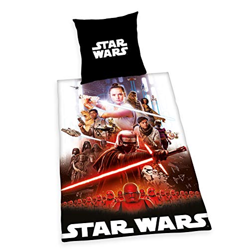 Herding Star Wars 9 Set copripiumini e federe, Cotton, Nero, 80 x 80 cm, 135 x 200 cm
