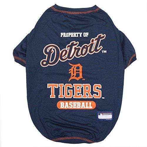 MLB Pet Apparel Lizenziertes Baseball-Trikots für Hunde und Katzen, erhältlich in Allen 30 MLB Teams und 7 Größen, MLB, T-Shirt, X-Large Shirt for Pets, Detroit Tigers