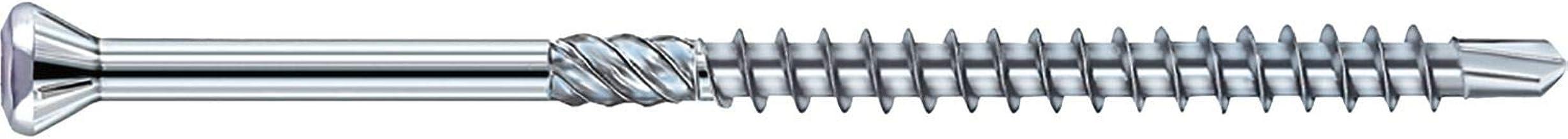 EUROTEC 110289 houtboorschroef Torx 10 met sierkop, 3,2 x 30 mm, verzinktblauw, 1000 stuks