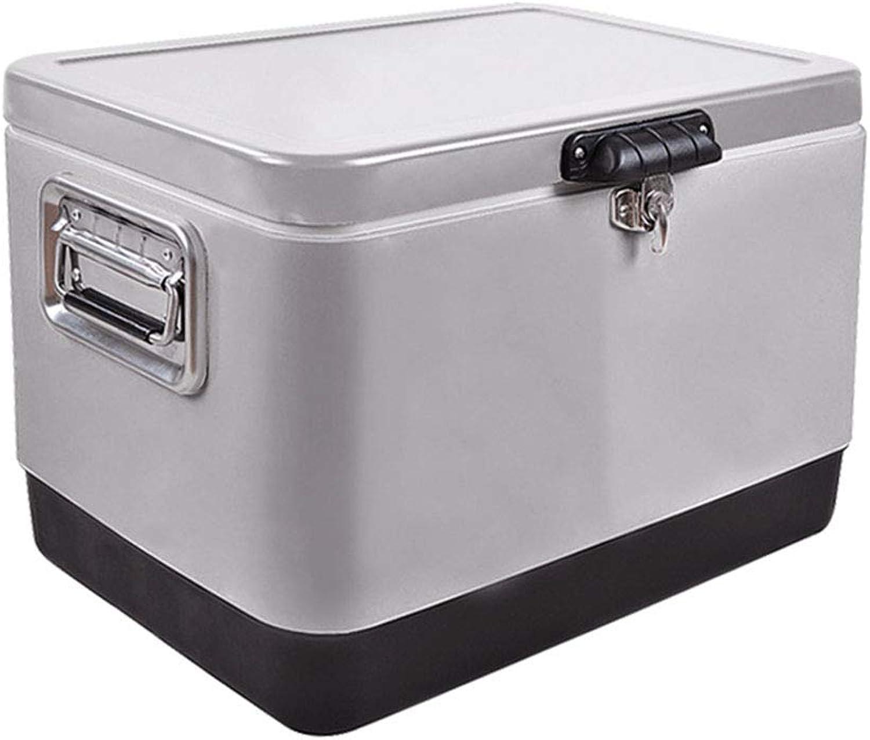 LIYANLCX Kühlbox Kühlschrnke Kühl- und Wrmekoffer tragbare Auto-Kühl- und Gefrierkombination aus Edelstahl mit Tragegriff für Reisen und Camping