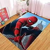 Yugy Tapis Enfants Anime Spiderman garçon Fille Enfants Chevet Tapis Salon Chambre Tapis Maternelle 120 * 160 cm