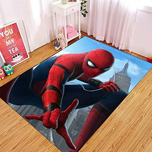 Yugy Teppich Kinder Anime Spiderman Junge mädchen Kinderbett Teppich Wohnzimmer Schlafzimmer kindergartenteppich 80 * 120cm