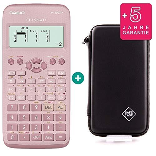 Casio FX-83GTX Pink + SafeCase Schutztasche + Garantieverlängerung auf 60 Monate