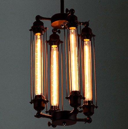 SEESEE.U Lámpara Colgante Industrial Iluminación Colgante Triple luz Articulada 4 Brazo Luz de Techo Lámpara de Techo Luz Colgante
