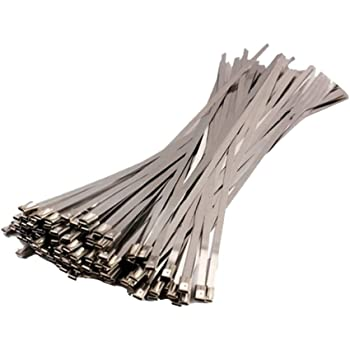 100 CABLE TIES VARIOUS LENGTH BLACK WHITE SILVER 100 140 200 300 370 XXTRA LONG