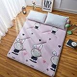 J-Kissen Boden Tatami-Matte, Schlafmatratzenauflage Pad Folding Dicker, Futon-Matratze Kissen, Studentenwohnheim Schlafmatte (Color : J, Size : 0.9m Bed) - 7