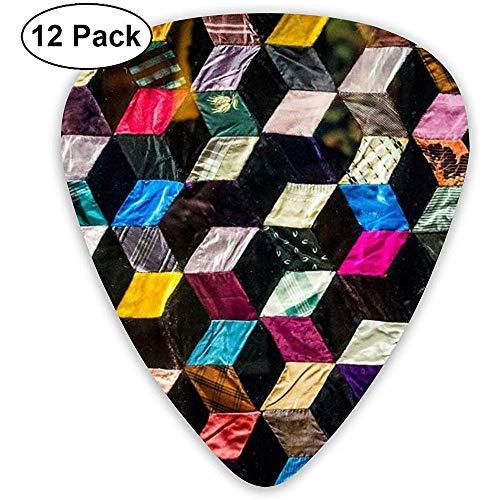 Magic Cube Ladder Gitaar Pick Set Gitaar Bas Mandolin Ukulele 0.46mm 0.71mm 0.96mm 12 Pack Gitaar Picks Plectrums Picks Houder