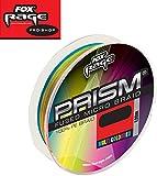 Fox Rage Prism Fused Braid 120m Multicolor geflochtene Schnur zum Spinnfischen, Angelschnur für...