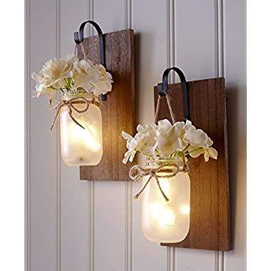 The Lakeside Collection Hanging Mason Jar Sconce