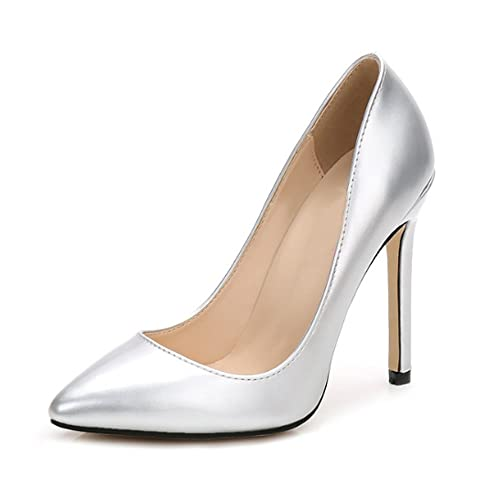 2834f3b802d OCHENTA Women Sexy Pumps PU Closed Toe High Heel Shoes