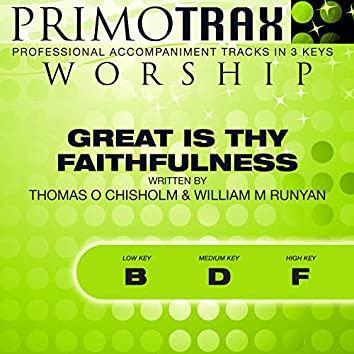 Great Is Thy Faithfulness (Worship Primotrax) [Performance Tracks] - EP