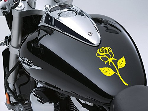 Rose Sticker Moto Réservoir à carburant voiture en 100 mm x 170 mm – Rose jaune