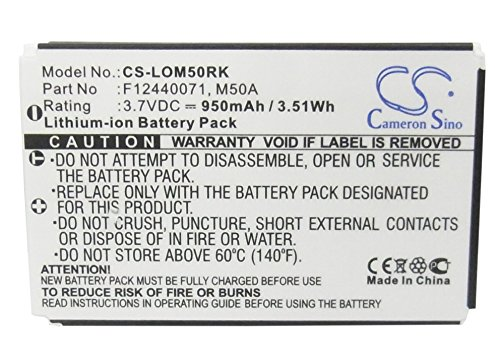 CS-LOM50RK Akku 950mAh Kompatibel mit [LOGITECH] diNovo Edge, DiNovo Mini, Y-RAY81 Ersetzt 190304-2004, F12440071, M50A