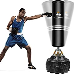 👊 【ADULT FREE STANDING KICKBOXING BAG】Works on any even floors in home and office. Stands approx 70''/180cm tall. Great exercise equipment for adult or teens (47-73in tall) gift as stress buster and strength builder. 👊 【HIGH-QUALITY MATERIAL】 Stainle...