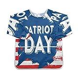 911 America Patriot Day Baberos de alimentación con mangas largas 2-6 años Baberos con mangas Bumkins Niños niña y niño Camisa impermeable Babero 3 bolsillos espaciosos