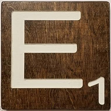 Large Scrabble Letter Tile (5 x 6 CREAM, E)