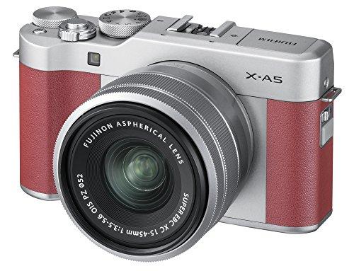 Fujifilm X-A5 Mirrorless Digital Camera w/XC15-45mmF3.5-5.6 OIS PZ Lens - Pink