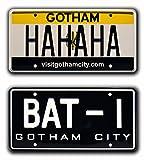 Batman | BAT-1 + The Joker's HAHAHA | Metal Stamped License Plates