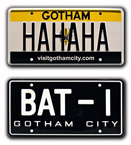 Celebrity Machines Batman | BAT-1 + The Joker's HAHAHA | Metal Stamped License Plates