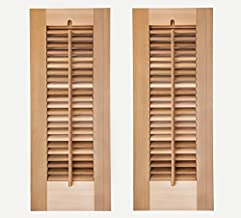 Timberlane Outdoor Cedar Shutter Pair with Operable Louvers - Unpainted 12
