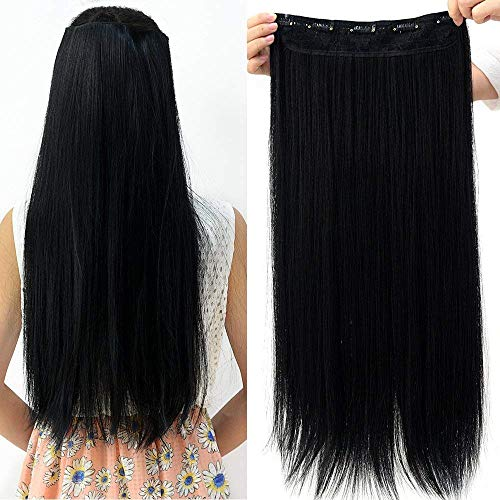 """Neverland 23 """"longue ligne droite du clip plein la tete dans les extensions de cheveux natrual Noir"""