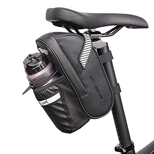 Lixada Bolsas para Sillines de Bicicletas Bolsa Impermeable para Bicicleta con Bolsa para Botella de para Bicicleta de Carretera de Montaña