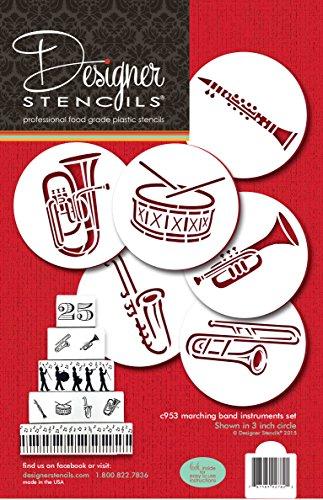 Designer Stencils Banda Strumenti Cookie Stencil by